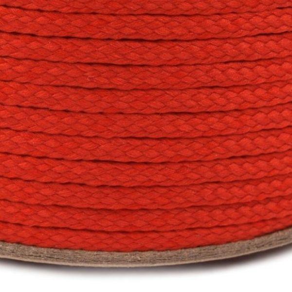 Oděvní šňůra PES 2 mm - červená