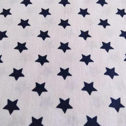 Metráž: Bavlna hvězdy - modrá