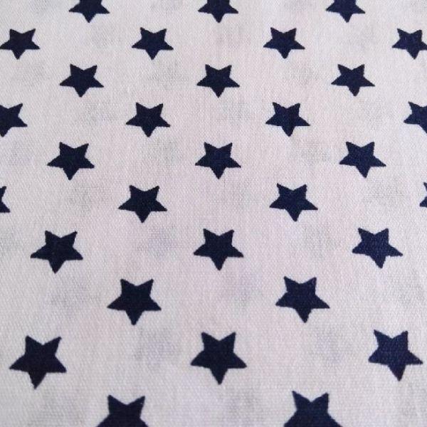 Bavlna hvězdy - modrá