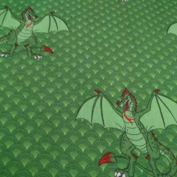 Bavlna drak - zelená