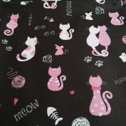 Metráž: Bavlna kočičky