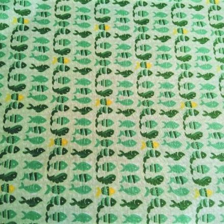 Metráž: Bavlna rybičky - zelená