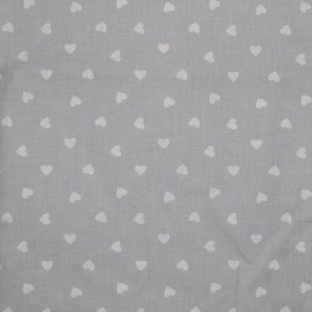 Metráž: Bavlna srdíčka na šedé