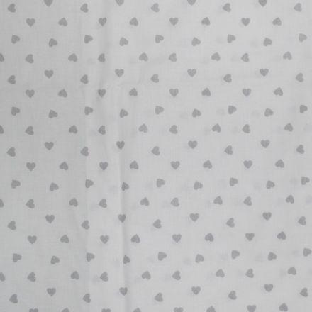 Metráž: Bavlna srdíčka na bílé