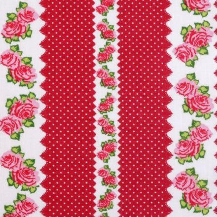 Metráž: Bavlna vzorovaná - červená