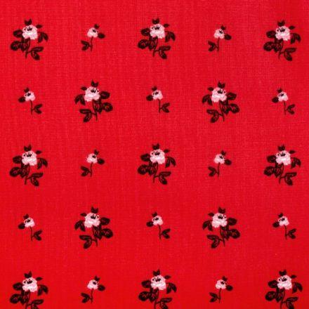 Metráž: Bavlna růže - červená
