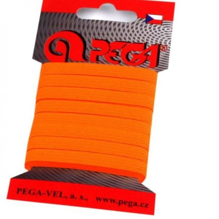 Galanterie: Pruženka šíře 7 mm (5m) - oranžová neon