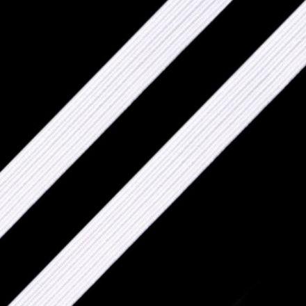 Galanterie: Pruženka plochá šíře 9 mm - bílá