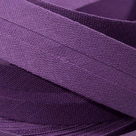 Galanterie: Šikmý proužek bavlněný šíře 20 mm - tm. fialová