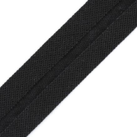 Galanterie: Bavlněný šikmý proužek 20 mm - černá