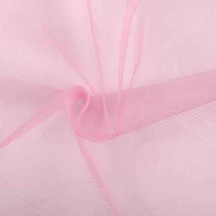 Metráž: Tyl jemný na závoje - sv.růžová