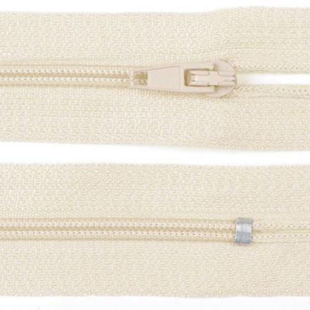 Galanterie: Zip nedělitelný 20 cm - smetanová