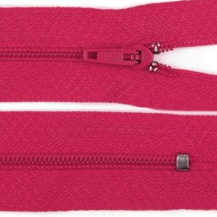 Galanterie: Zip nedělitelný 20 cm - tmavě růžová