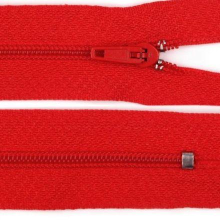 Galanterie: Zip nedělitelný 20 cm - červená