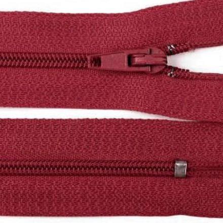 Galanterie: Zip nedělitelný 20 cm - bordó
