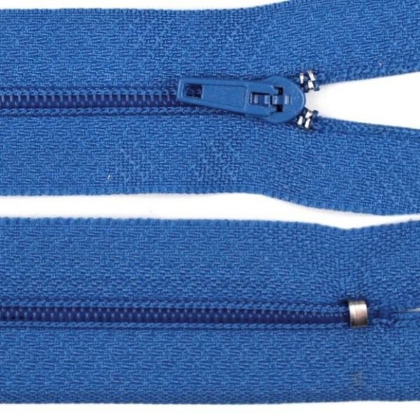 Zip nedělitelný 20 cm - modrá