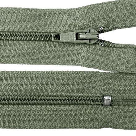 Galanterie: Zip nedělitelný 20 cm - šedá