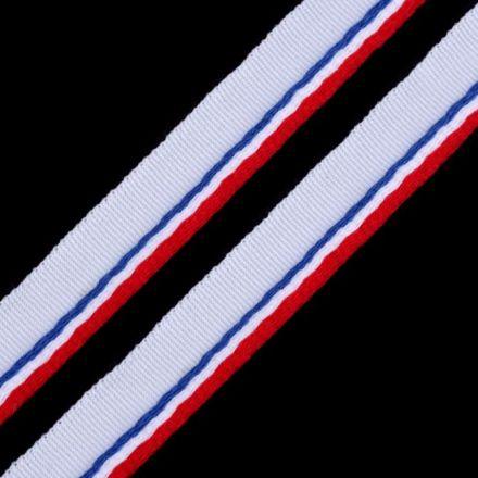 Galanterie: Paspulka šíře 9 mm - modrobíločervená