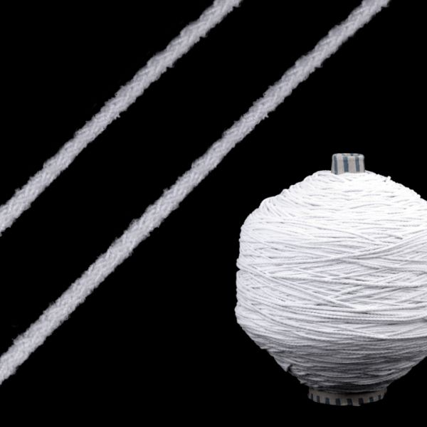 Kulatá pruženka 2 mm - bílá