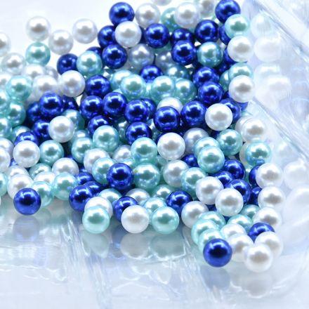 Galanterie: Plastové voskové korálky 8 mm (40ks) - mix