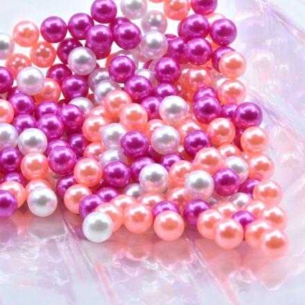 Galanterie: Plastové voskové korálky 6 mm (100ks) - mix