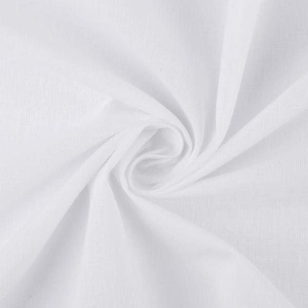 Bavlněná látka jednobarevná - bílá