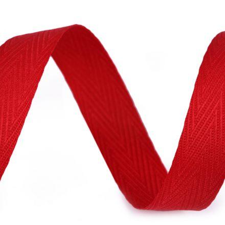 Galanterie: Keprovka šíře 15 mm (1m) - červená