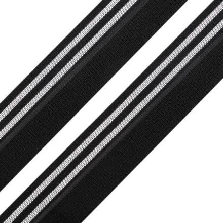 Galanterie: Lemovací pruženka šíře 20 mm (1m) - černostříbrná