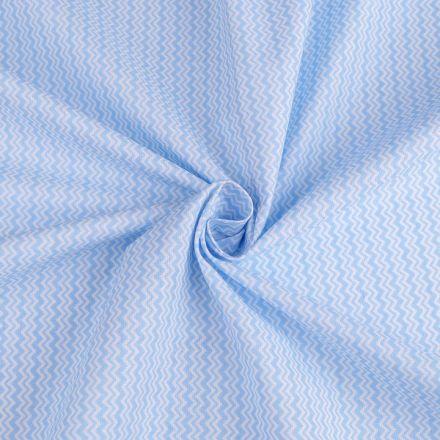Metráž: Bavlněná látka chevron - sv.modrá