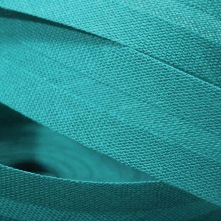 Galanterie: Šikmý proužek šíře 20 mm - tyrkysová