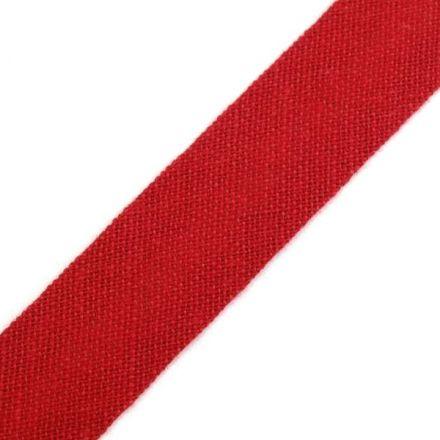 Galanterie: Šikmý proužek šíře 14 mm - tmavě červená