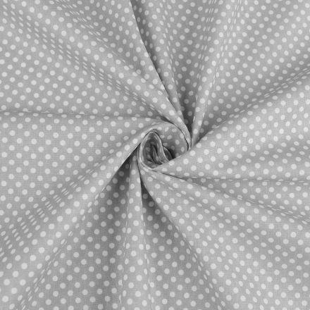 Metráž: Bavlněná látka puntík - šedá