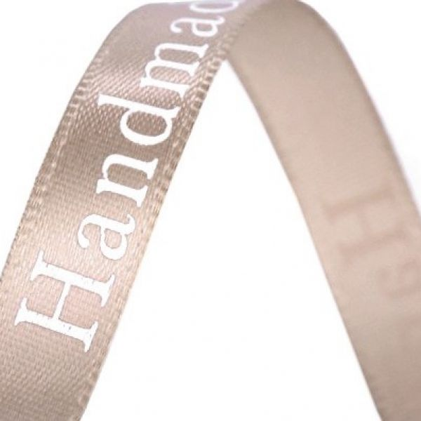 Saténová stuha šíře 9 mm - béžová