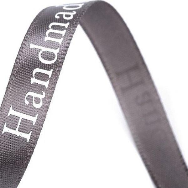 Saténová stuha šíře 9 mm - šedá