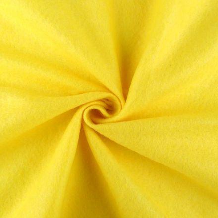 Galanterie: Filc / plsť šíře 90 cm - žlutá