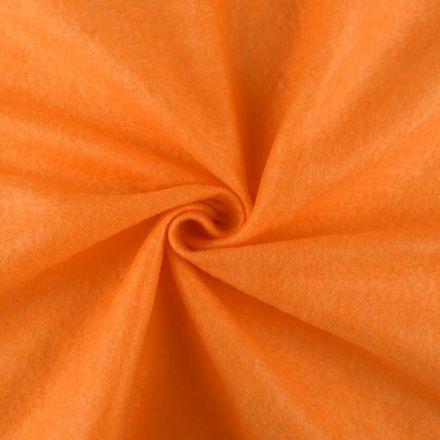 Galanterie: Filc / plsť šíře 90 cm - oranžová