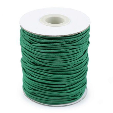 Galanterie: Kulatá pruženka 2 mm (1m) - tmavě zelená