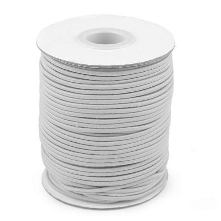 Galanterie: Kulatá pruženka 2 mm (1m) - světle šedá