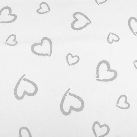 Metráž: Bavlněná látka srdce