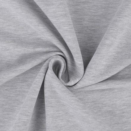 Metráž: Teplákovina šíře 160 cm - šedý melír