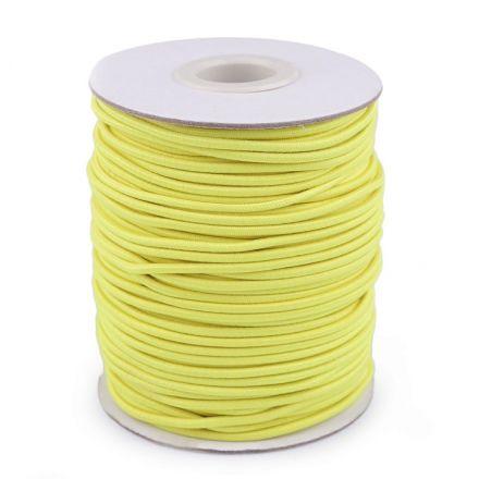 Galanterie: Kulatá pruženka 2 mm (1m) - žlutá