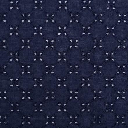 Metráž: Bavlněná madeira - tmavě modrá