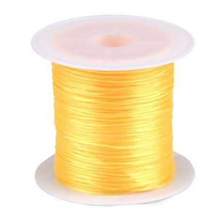Galanterie: Pruženka / gumička plochá 1 mm - žlutá