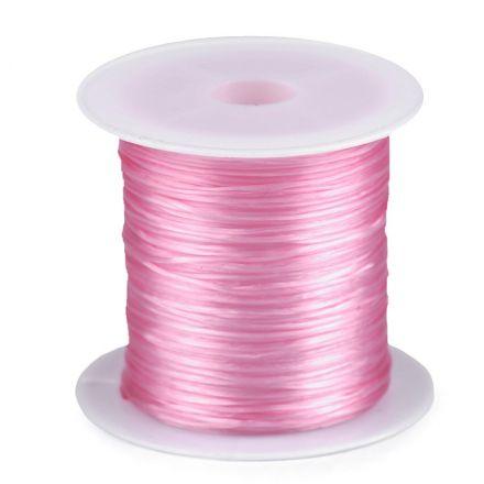 Galanterie: Pruženka / gumička plochá 1 mm - růžová