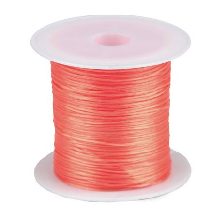 Galanterie: Pruženka / gumička plochá 1 mm - korálová