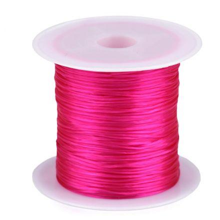 Galanterie: Pruženka / gumička plochá 1 mm - růžová neon