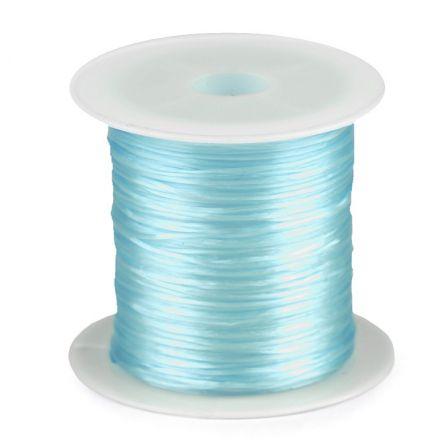 Galanterie: Pruženka / gumička plochá 1 mm - světle modrá