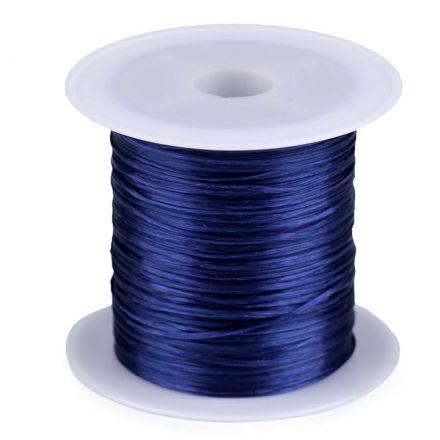 Galanterie: Pruženka / gumička plochá 1 mm - tmavě modrá