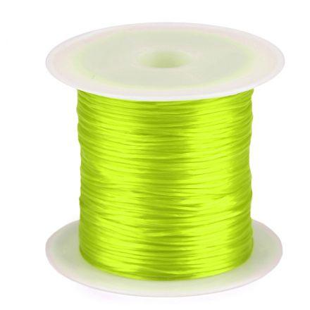 Galanterie: Pruženka / gumička plochá 1 mm - žlutozelená