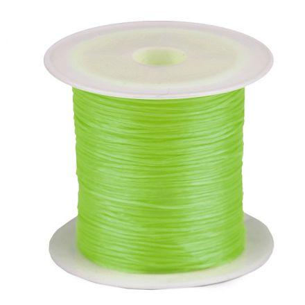 Galanterie: Pruženka / gumička plochá 1 mm - zelená neon